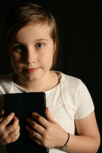 Little girl with Bible - innocence.
